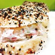 Bagel with Veggie Cream Cheese